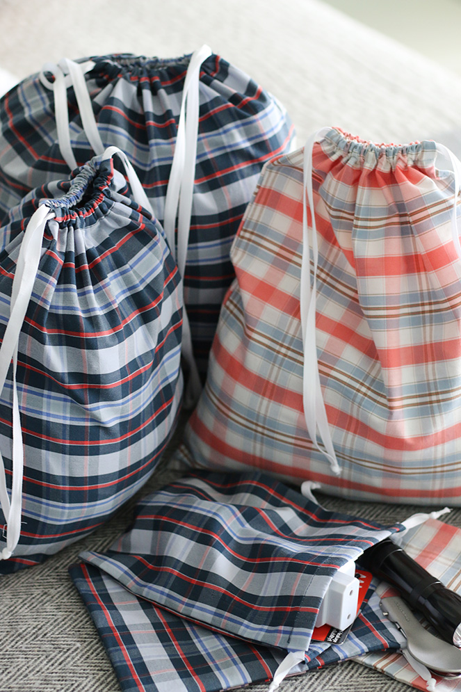 Camino handmade: backpack organizers from old shirts